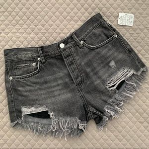 Free People Destroyed Denim Shorts